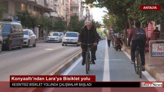 Konyaaltı 'ndan Lara'ya Bisiklet yolu
