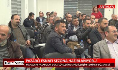 PAZARCI ESNAFI SEZONA HAZIRLANIYOR  !