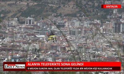 ALANYA TELEFERİKTE SONA GELİNDİ