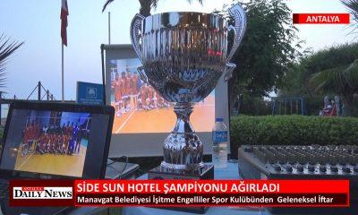 SİDE SUN HOTEL ŞAMPİYONU AĞIRLADI