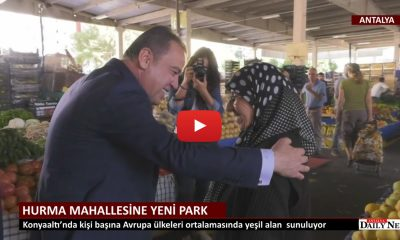 HURMA MAHALLESİNE YENİ PARK