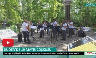 DÜDEN ŞELALESİNDE 19 MAYIS COŞKUSU
