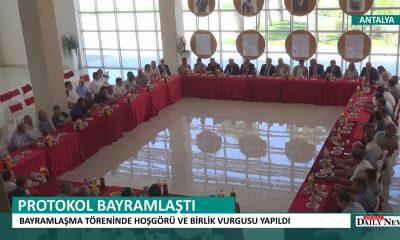 MANAVGAT'TA PROTOKOL BAYRAMLAŞTI