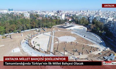 Türkiye'nin ilk Millet Bahçesi Antalya'da