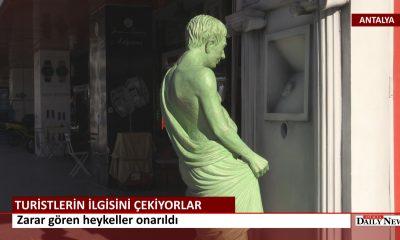 Antalya 'da Heykeller Onarıldı