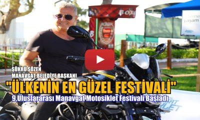 MANAVGAT MOTOSİKLET FESTİVALİ BAŞLADI
