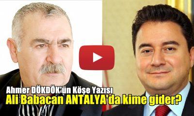 Ali Babacan Antalya'da kime gider?