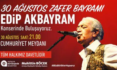 30 Ağustos'ta Edip Akbayram konseri