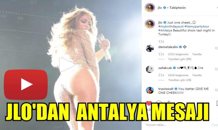 jlo'dan Antalya mesajı
