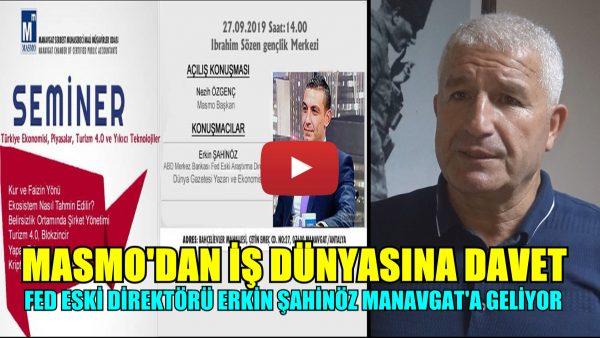 FED ESKİ DİREKTÖRÜ MANAVGAT'A GELİYOR