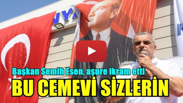 Başkan Semih Esen, aşure ikram etti
