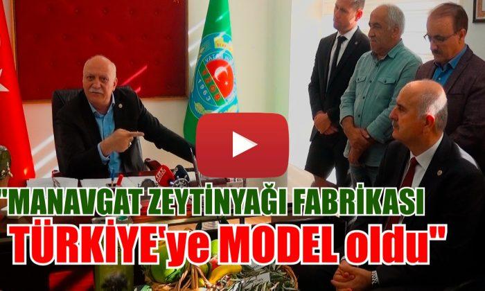 """MANAVGAT ZEYTİNYAĞI FABRİKASI MODEL OLDU"""