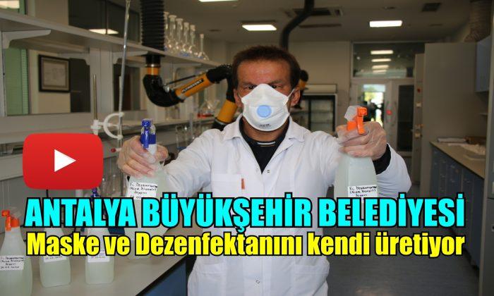 Büyükşehir maske ve dezenfektan üretiyor