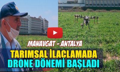 TARIMSAL İLAÇLAMADA DRONE DÖNEMİ