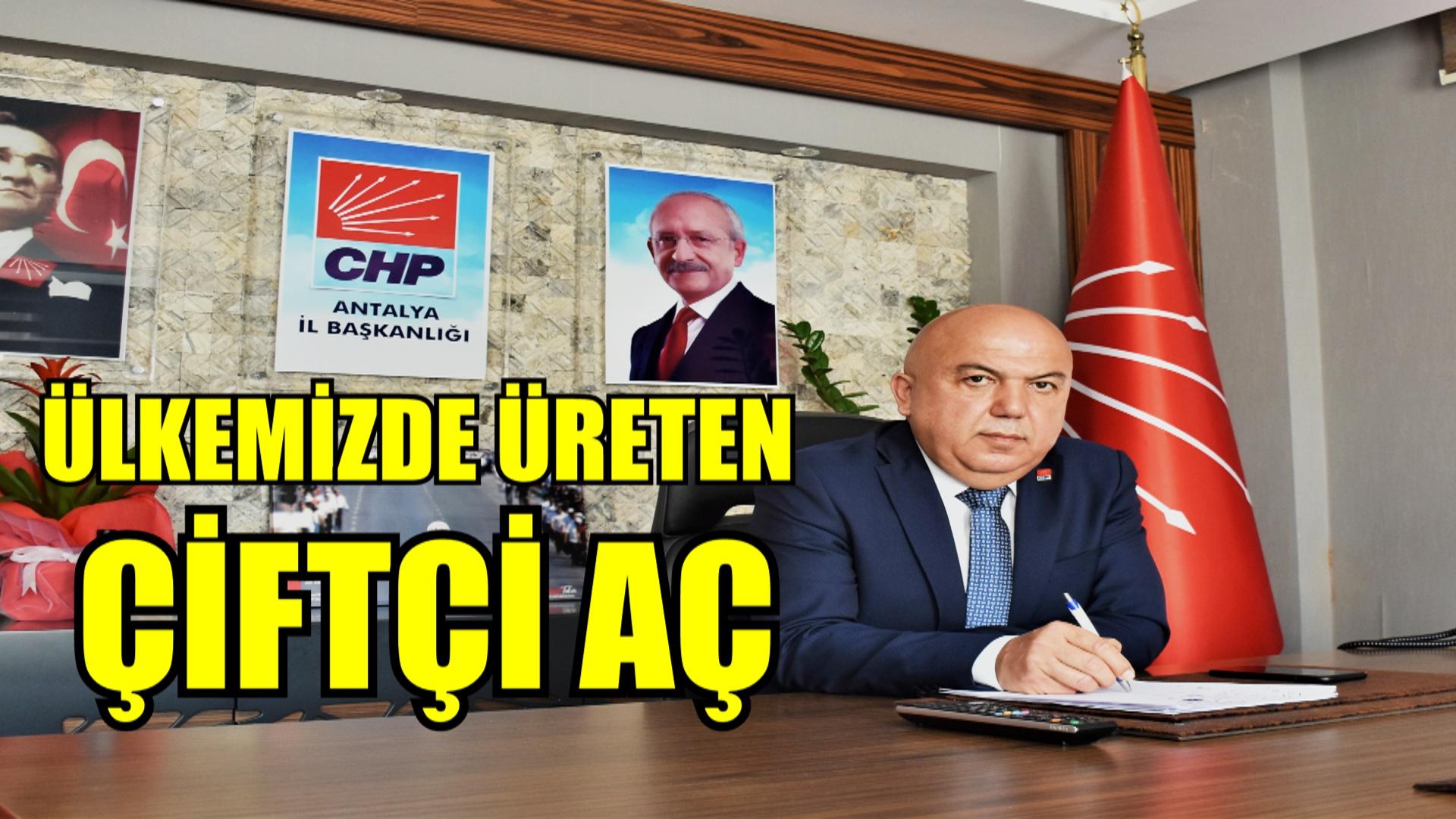 """""""ÜLKEMİZDE ÜRETEN ÇİFTÇİ AÇ"""""""